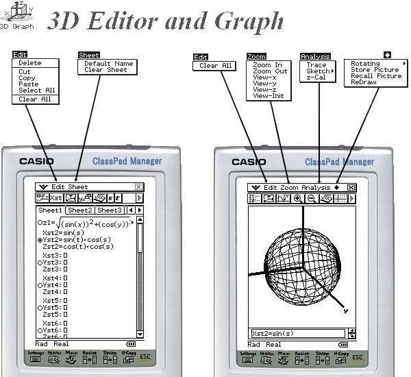 ClassPad 3D Graph
