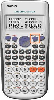 FX991 MODE - Calculation mode setting -